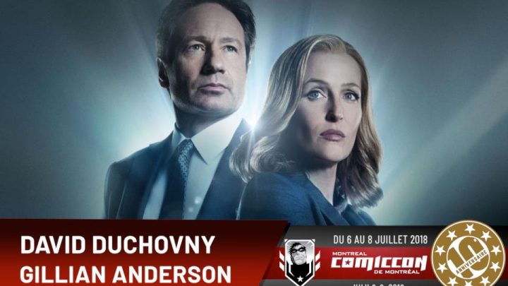 The X-Files: David Duchovny et Gillian Anderson au Comiccon de Montréal