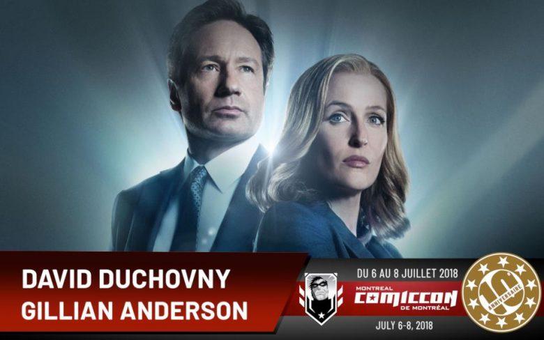 David Duchovny et Gillian Anderson au Comiccon de Montréal