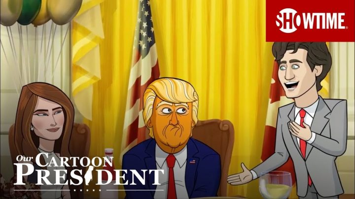 Our Cartoon President: Justin Trudeau affronte Donald Trump