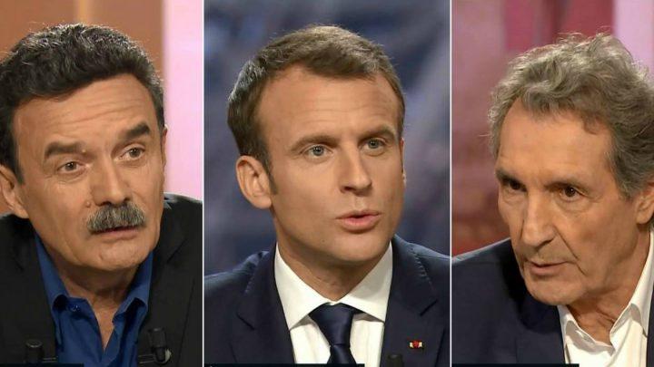 Emmanuel Macron face à Plenel et Bourdin
