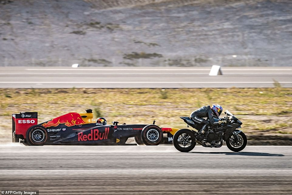 Teknofest Istanbul Kawasaki H2R vs Formule 1 Red Bull