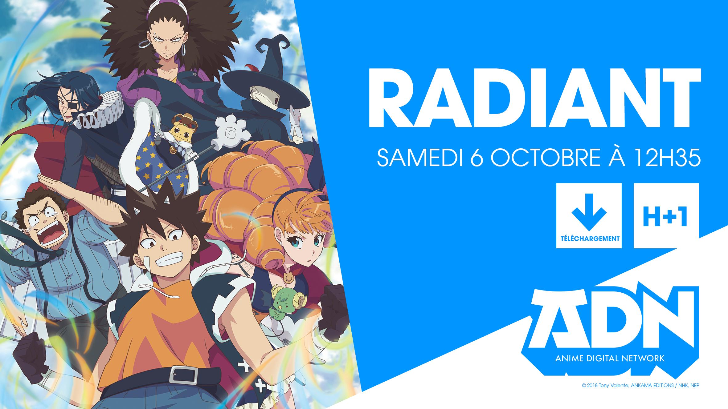 Radiant: la série diffusée cet automne sur Crunchyroll et ADN