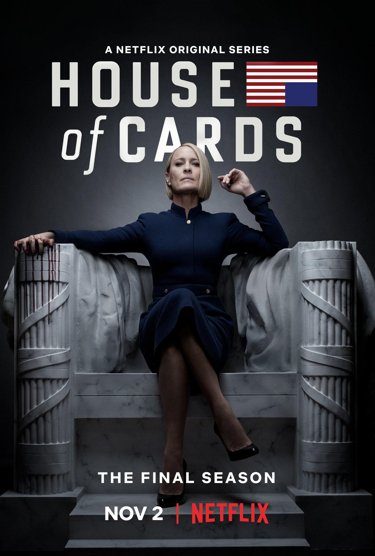 C'est dans le rôle de présidente des États-Unis que Robin Wright revient pour la sixième et dernière saison de la série culte House of Cards