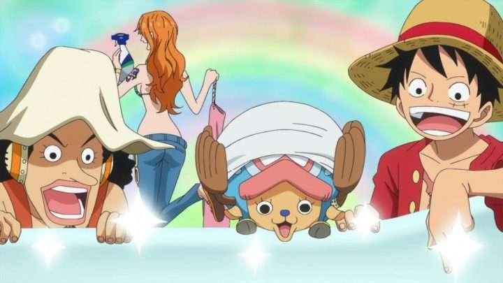 One Piece: Luffy et son équipage en mer pour une pub