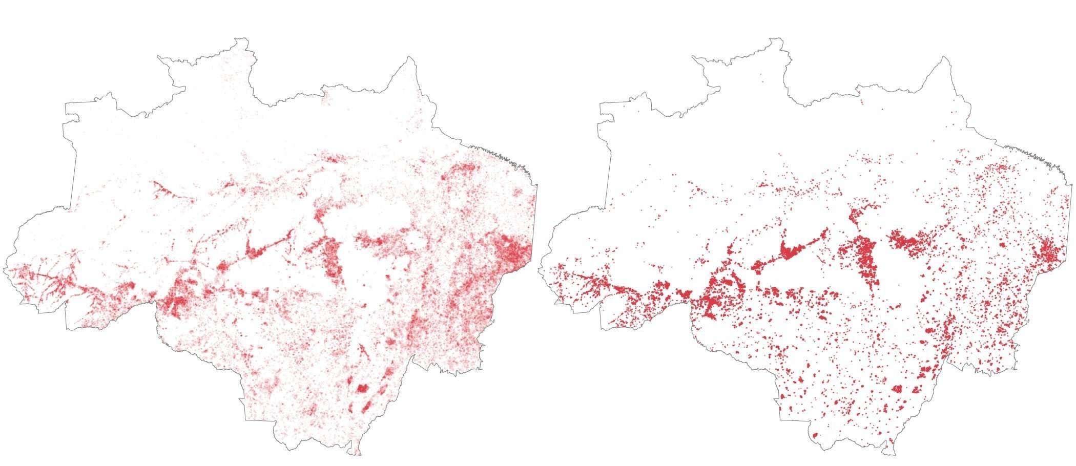 Amazonie Moyenne Août 2011-2018 et Août 2019